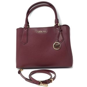 💯 Auth Michael Kors Leather Satchel Bag